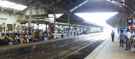 colombo train station, sri lanka