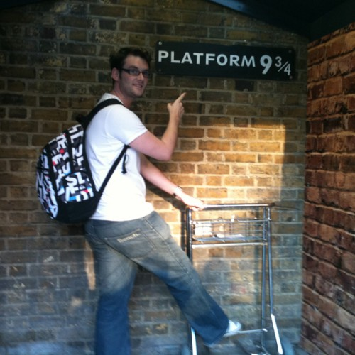Platform 9 3/4 from Harry Potter