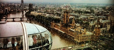 The houses of parliament from the London eye