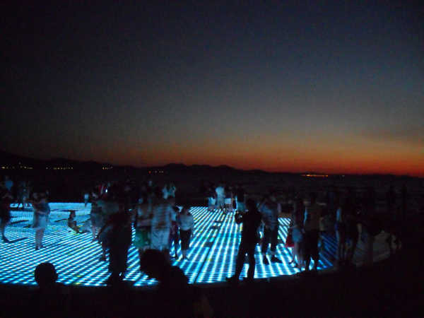 greeting to the sun, zadar, croatia