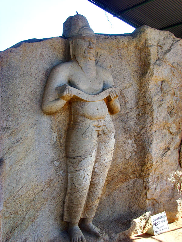 Statue of King Parakramabahu in Polonnaruwa