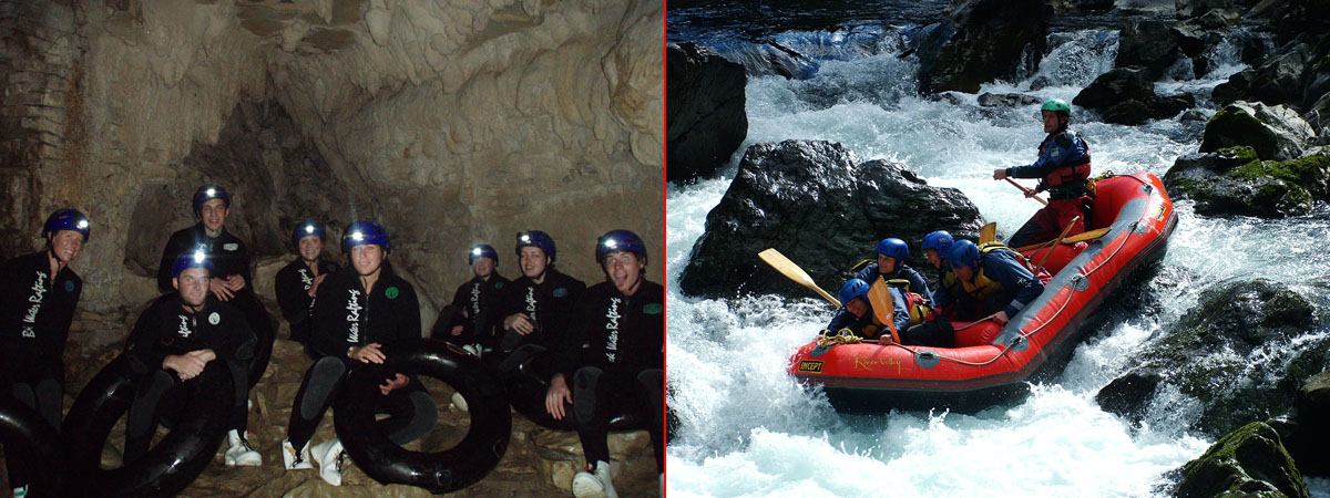 Black water rafting vs White water rafting