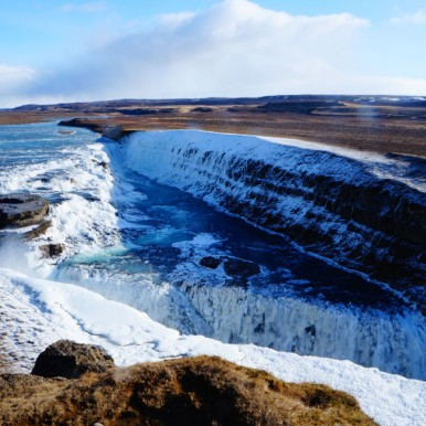 Gullfoss waterfall, golden circle