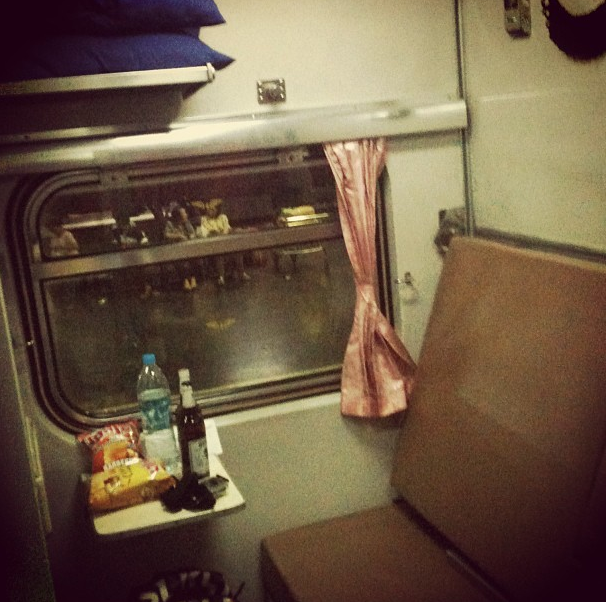 1st class sleeper, From Bangkok to Vientiane by train