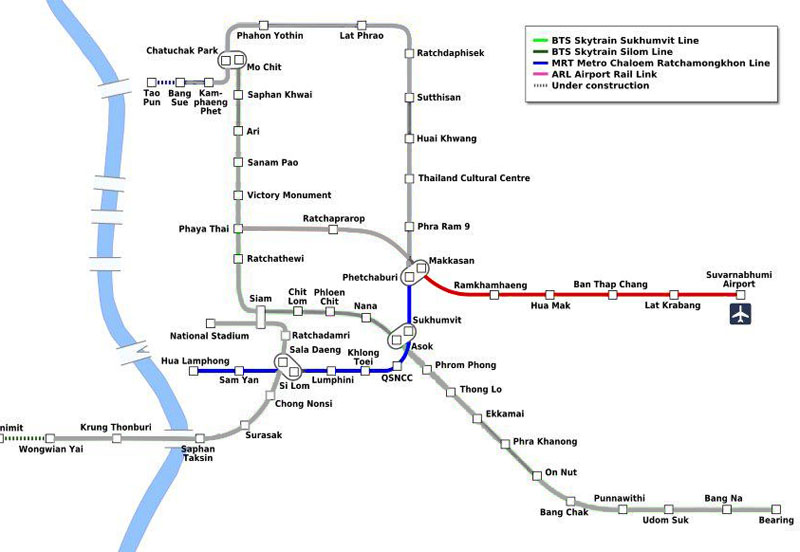 Bangkok transit map
