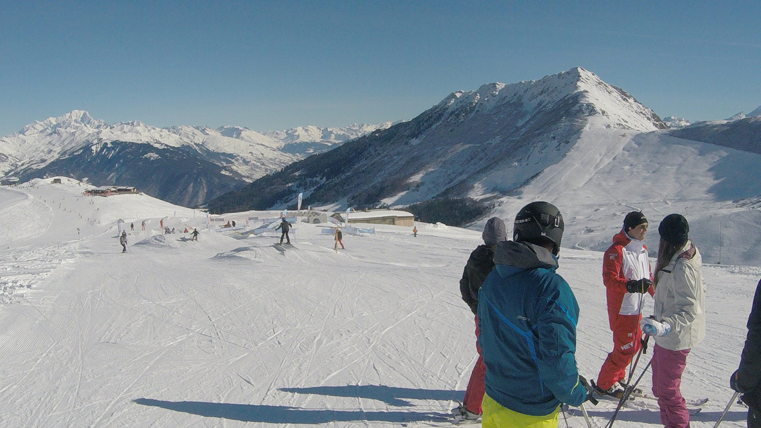 snowboarding in Valmorel, France