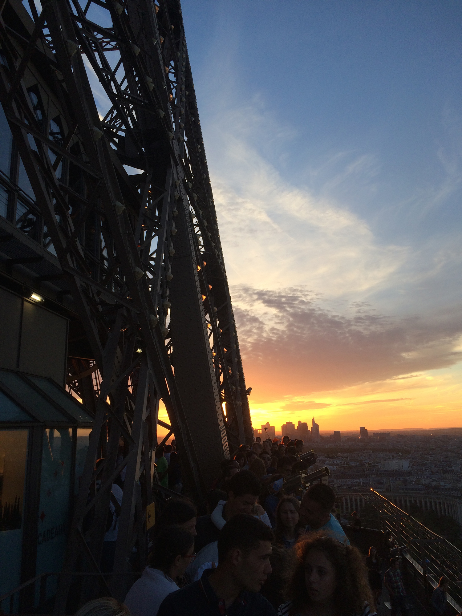 Sunset view from the eiffel tower
