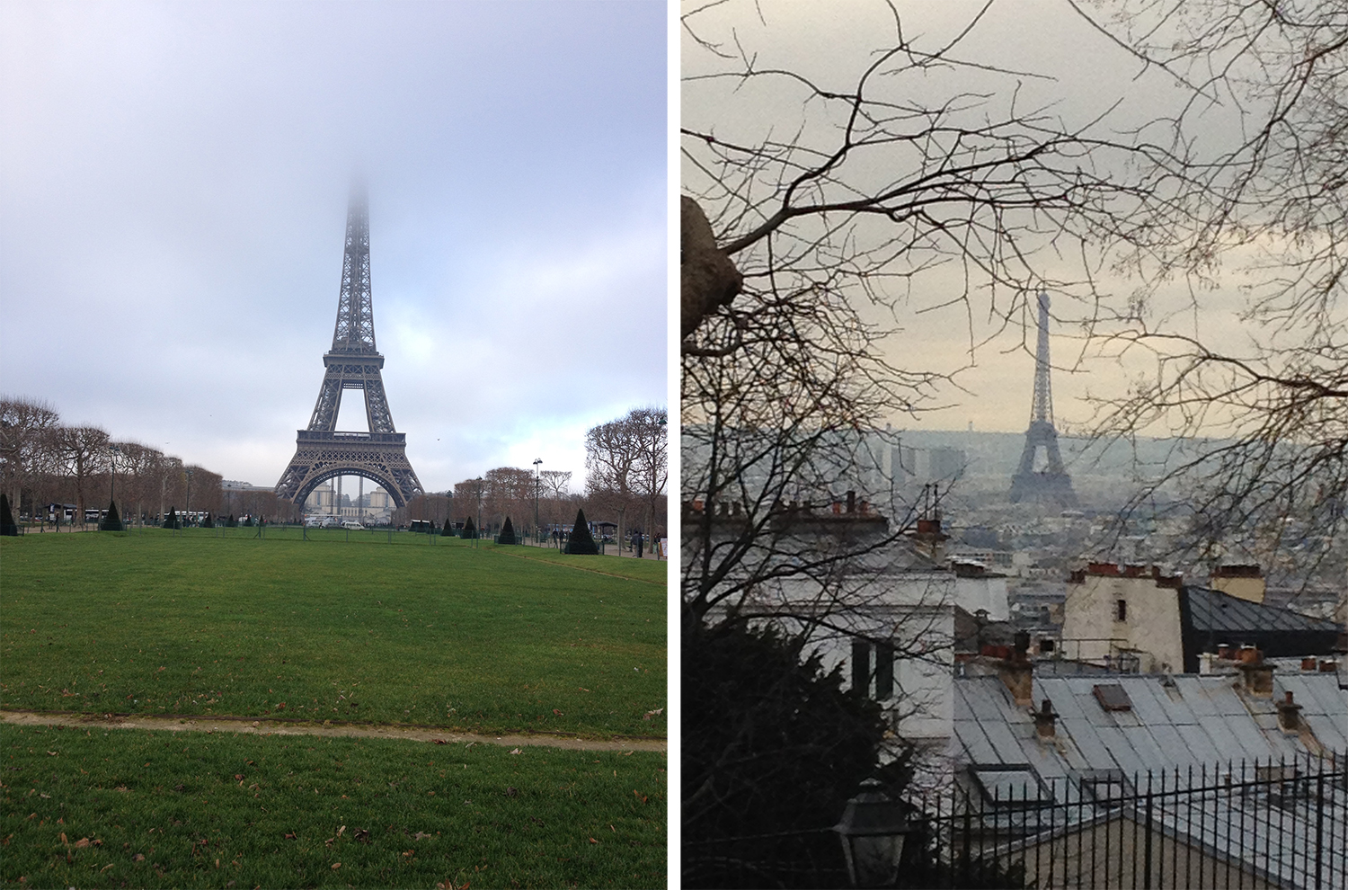 views of the Eiffiel Tower
