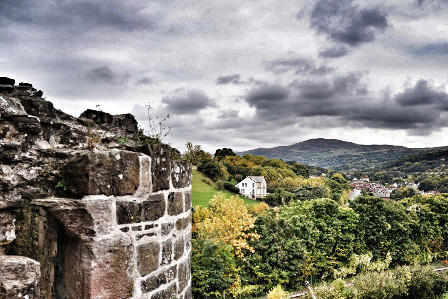 Conwy castle lookout
