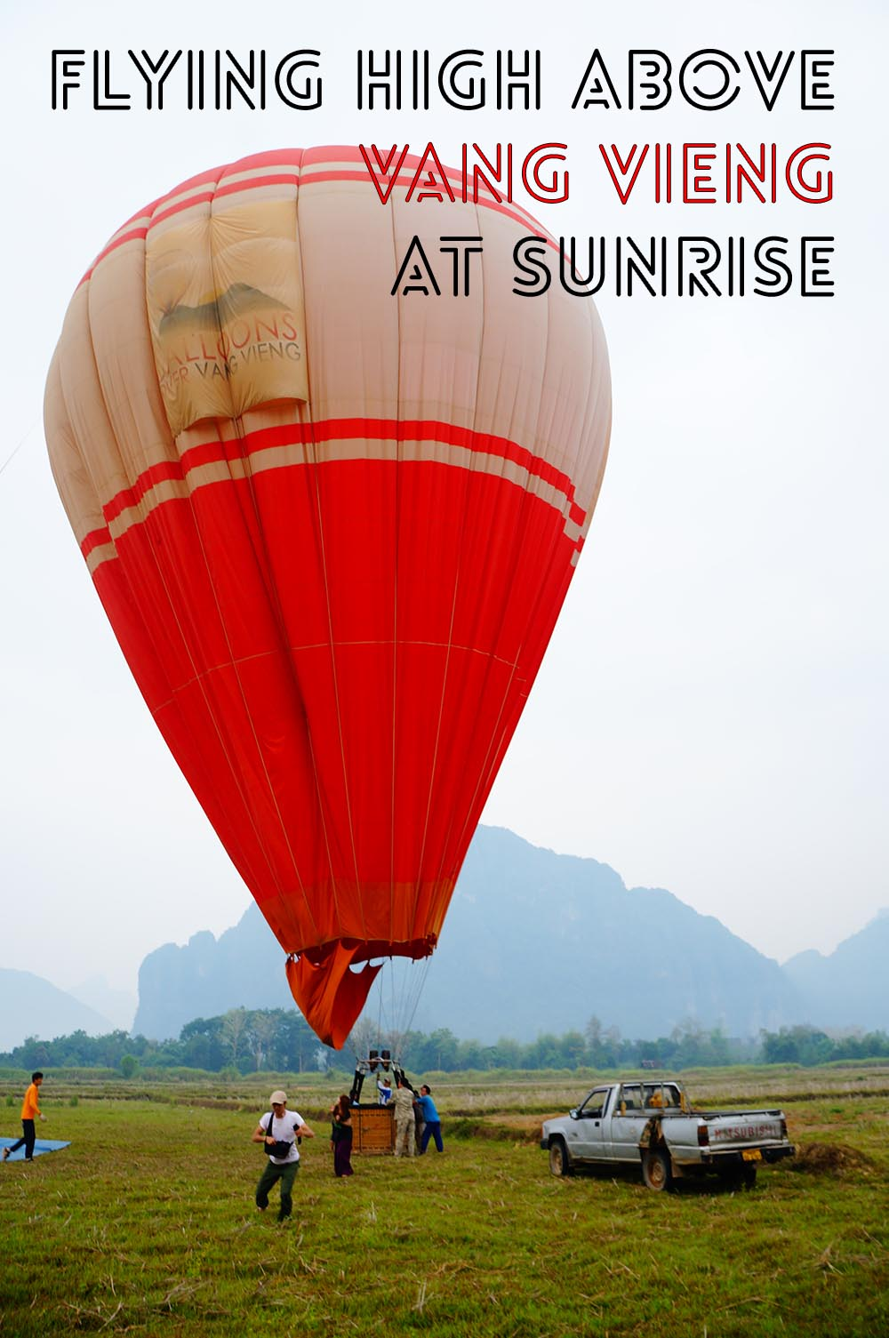Vang Vieng sunrise hot air balloon ride