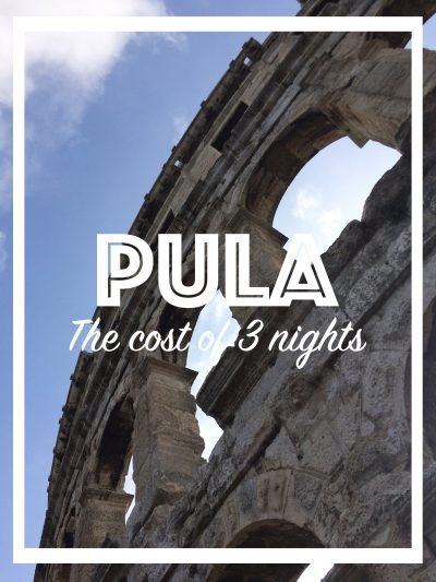 Cost of 3 nights in Pula