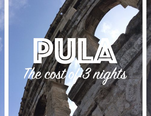 The cost of 3 nights in Pula, Croatia